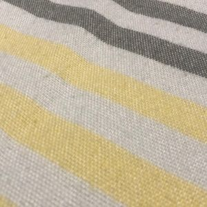 unknown Accents - 🦄 Grey and Yellow Striped Throw